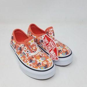 201684eca4 Vans Shoes - Vans Authentic Floral Pop Living Coral Girl s 10.5